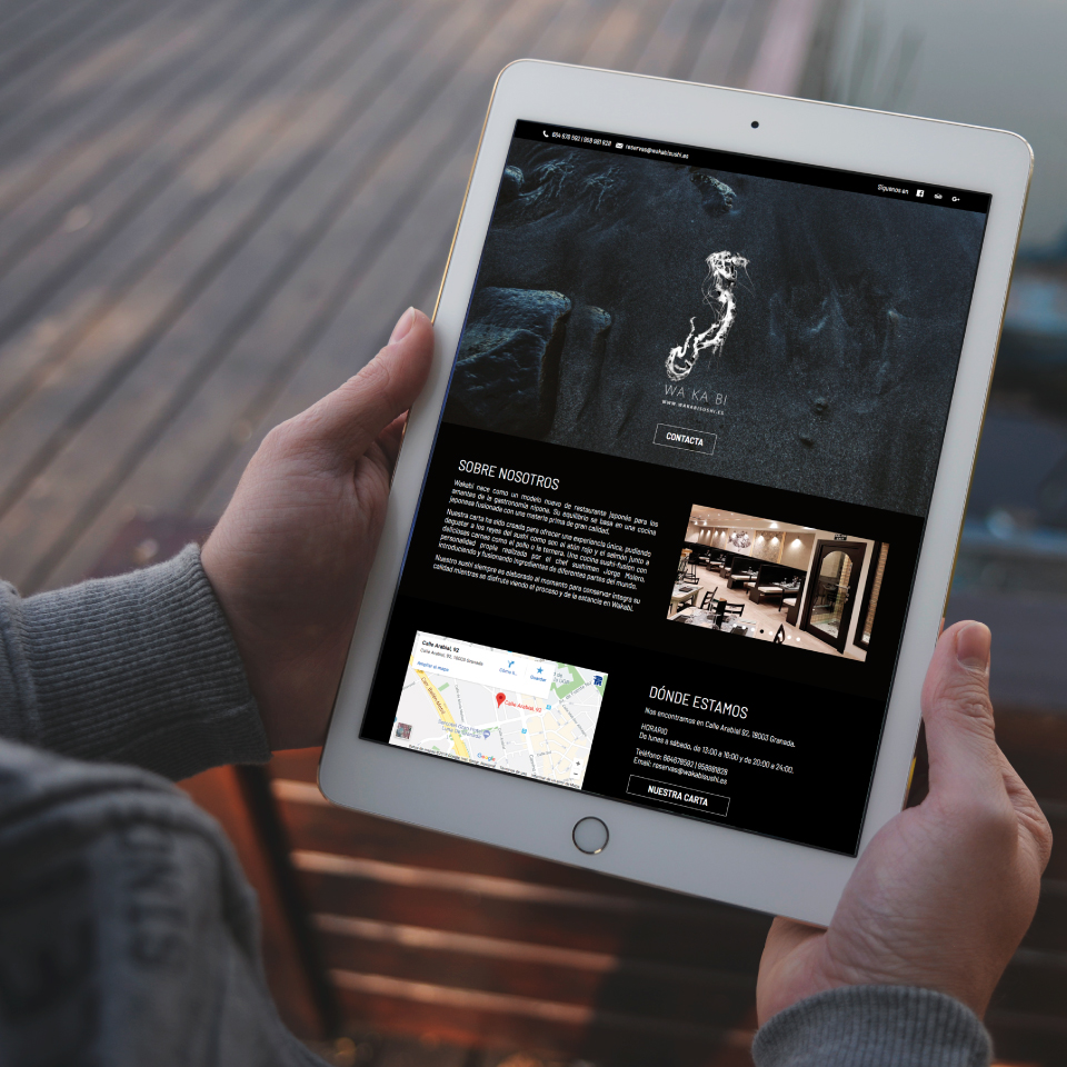 diseño web granada restaurante wakabi sushi